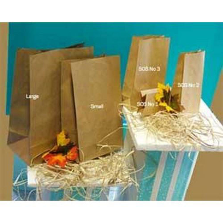 Picture of Flat Bottom Brown Paper Bag - Supermarket Style No Handles large size