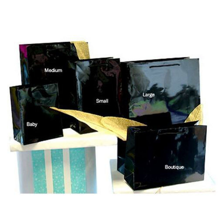 Picture of Plain Laminated Paper Bags with Rope Handle - Small Btq